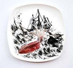Проект 31 день творчества с едой фото 11-15 Картины на тарелках. 31 день творчества с едой.Проект 31 день творчества с едой фото 11-15Многих людей еда вдохновляет на творчество, но обычно эт...