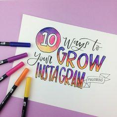 10 Ways To Grow Your Instagram Following: How I grew my Instagram from 1k to 35k in less than a year | www.brittanyluiz.com