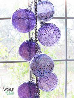 Wolf Art Glass Blown glass ornament suncatchers