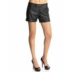 Sanctuary Black Leather Shorts at Piperlime