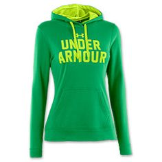 Get ready to conquer your workouts with the Women's Under Armour Battle Hoodie. Engineered for when the temps drop, this hoodie features 100% ultra-light Armour fleece that's smooth outside and brushed inside to trap heat in. No worries about getting too toasty though because the signature Moisture Transport System wicks unwanted moisture away from the body so you're always dry and comfy. Topped off with a mesh-lined, two-piece hood and a kangaroo pocket for stashing of all essentia...