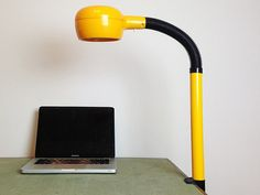 Yellow Fagerhults Cobra Desk Lamp / Clamp Lamp / by RigaVintage