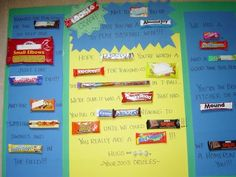 Fish Food: Candy Grams for Coaches Candy Poems, Candy Messages, Candy Quotes, Candy Poster Board, Candy Bar Posters, Candy Board, Softball Coach Gifts, Baseball Gifts, Team Gifts