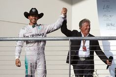 Lewis with Mario Andretti