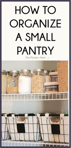 Small Pantry Organization, Pantry Storage, Organization Hacks, Pantry Ideas, Storage Hacks, Organizing Ideas, Kitchen Storage, Pantry Closet, Organizing Life