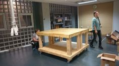 Picture of Makerspace Workbench on Wheels