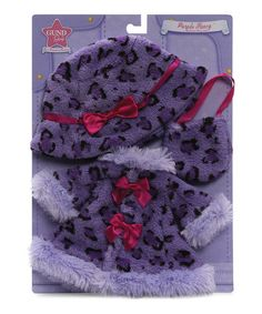 Take a look at this Purple Fancy Jacket & Accessories Set by GUND on #zulily today!