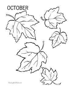 Autumn leaves coloring pages for thankful tree