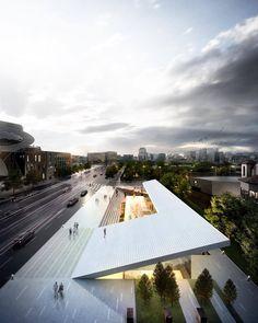 #nextarch by @archi_mj #next_top_architects 애증의 구 국세청별관 세종대로 현상설계 MAIN_CUT_외주3D