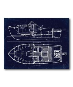 This Boat Blueprint II Canvas by COURTSIDE MARKET is perfect! #zulilyfinds