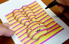 How to draw rabbit coloring pages 3d Hand Drawings, 3d Art Drawing, Art Drawings For Kids, Drawing Lessons, Drawing For Kids, Drawing Step, Drawing Ideas, Easter Drawings, Illusion Kunst
