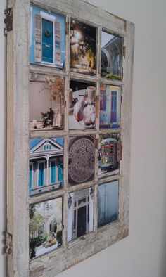 Using old windows to make a work of art. I could see this with old pics in it.