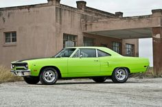 "1970 Plymouth Road Runner in ""Lime Light"" green."