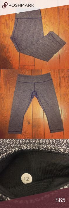 NWOT Lululemon Athletica Cropped Leggings NWOT Lululemon Athletica Cropped Leggings. Got these as a gift but the wrong size and tag was taken off by gift giver. Smoke free and pet free home! Bundle to save! lululemon athletica Pants Leggings