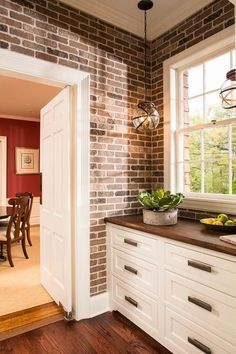 Butler's Pantry in this amazing before & after kitchen renovation!