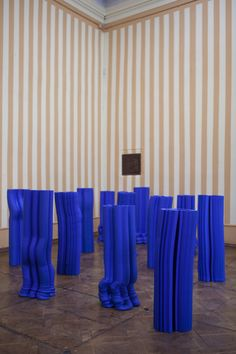 Anton Alvarez adopts Yves Klein's signature blue for extruded vases  Swedish-Chilean designer Anton Alvarez has created a series of tall vessels featuring the vibrant blue tone favoured by artist Yves Klein. Installed... http://drwong.live/art/design/anton-alvarez-yves-klein-blue-vases/