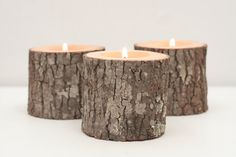 Tree Branch Candle Holders Set of 3 Short- Rustic Wood Candle Holders, Wooden Candle Holders, Wedding Centerpiece on Etsy, $18.50