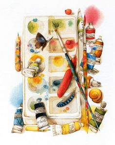 Water colors. Dutch artist Mardzholen Bastin (Marjolein Bastin). - Акварели. Голландская художница Марджолен Бастин (Marjolein Bastin).. Обсуждение на LiveInternet - Российский Сервис Онлайн-Дневников