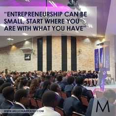 """""""Entrepreneurship can be small, start where you are, with what you have""""- Millionaire at 22 🙌 Share… – slippiest-prime Start Where You Are, Monday Quotes, Become A Millionaire, Entrepreneurship, How To Become, Writing, Canning, Friends, Inspiration"""