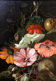 Rachel Ruysch. Still Life with Flowers and Fruit. 1682. detail