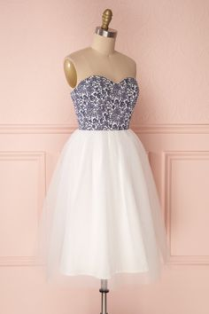 Alessandria Floral White Tulle Bustier Dress | Boutique 1861 Bustier Dress, White Tulle, Camille, Online Fashion Boutique, Prom Dresses, Formal Dresses, Short Prom, Boutique Dresses, Floral Prints