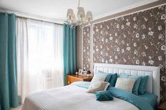 Бирюзовые шторы в интерьере: примеры с фото