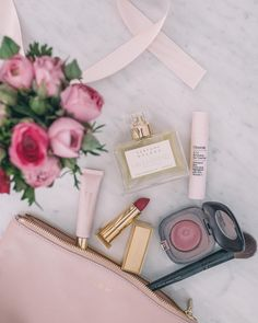 Current beauty faves- all in shades of pink #inmybeautybag #ontheblog #cuyana #blush #lipstickqueen #roses #beautyproducts