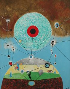 History of Art: Enrico Donati - 18 Moons All Art, Painters, Murals, Surrealism, Amazing Art, Contemporary Art, Shapes, Artists, Fantasy