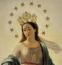 Image result for Mary and the heavenly beings