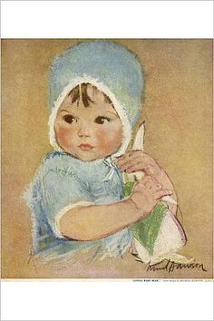 Amazon.com: Photographic Print of Little Baby Blue by Muriel Dawson: Posters & Prints