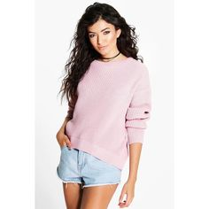 Boohoo Lucy Marl Oversized Fisherman Jumper (€18) ❤ liked on Polyvore featuring tops, sweaters, nude, turtleneck sweater, knit turtleneck sweater, wrap sweater, pink turtleneck and oversized knit sweaters