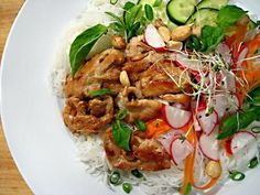 Thai Chicken and Rice Noodle Salad