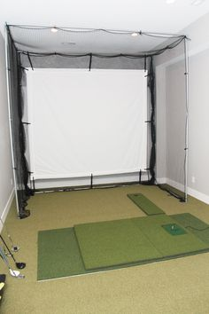 Golf Simulator room...I need one of these!