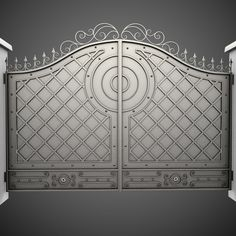 Wrought Iron Gate 23 Model available on Turbo Squid, the world's leading provider of digital models for visualization, films, television, and games. Iron Main Gate Design, Wrought Iron Gate Designs, Gate Wall Design, Grill Gate Design, Window Grill Design Modern, Steel Gate Design, Front Gate Design, House Gate Design, Wooden Door Design