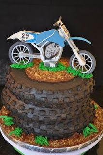 I know its a cake but how freakin cute would this be for a cupcake !! N use a mini bike on the top !! JERM'S next birthday !! #26