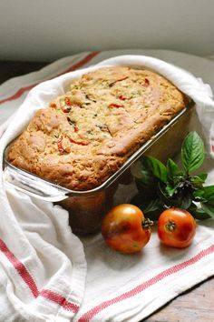 Savory Zucchini Bread with Tomatoes!