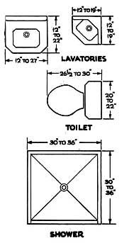 Modify This One 8x11 Bathroom Floor Plan With Double Bowl Vanity Cabinet And Linens Bathrooms