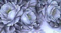 Pintura de rosas pretas pelo artista Luis Moreira.