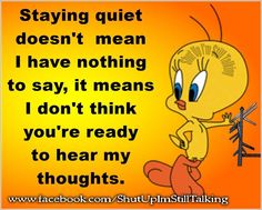 Psalms Quotes, Faith Quotes, Words Quotes, Life Quotes, Cartoon Jokes, Funny Cartoons, Funny Emoticons, Cartoon Gifs, Tweety Bird Quotes