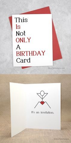 Boyfriend Birthday Cards Not Only Funny Gift  by MissTanDesigns
