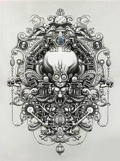 INCROYABLES ILLUSTRATIONS MONOCHROMES DE JOE FENTON ! http://www.ufunk.net/artistes/joe-fenton/#
