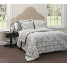 CASA Waveland 6-Piece Bedding Comforter Set with Bonus Quilt - Walmart.com
