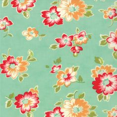 Scrumptious Summer in Aqua by Bonnie and by MetroQuiltCompany, $4.75
