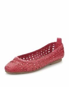 Woven Ballerina Flat by Patricia Green at Last Call by Neiman Marcus.
