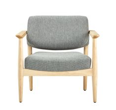 lounge chair | natural wood | grey | customizable | armchair | large | oversize | natural wood | interior design | commercial design | living room | hotel | lobby lounge | office | waiting room | comfortable | armchair