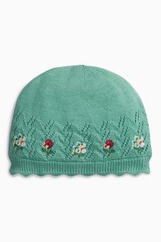 Kaufen Sie Green Embroidered Knit Hat (0 Monate bis 2 Jahre) heute online bei Next: Deutschland