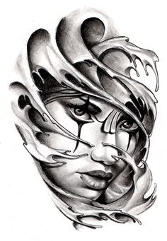 Commissioned Tattoo Sketch Chicano Style by AndreaDiamondTattoo.deviantart.com on @deviantART