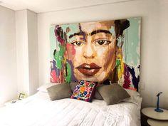 Expressionism painting by @Angela Correa  Acrilic on canvas  #Art #paint #Expressionism #protrait #Frida