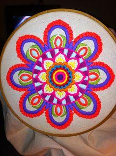 Bordado mexicano. Mandala