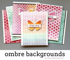 Ombre Backgrounds by Jennifer McGuire Ink
